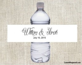 Wedding ANY COLORS Party Favor Water Bottle Labels Custom Personalized - $3.96+