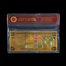 WR Gold Saudi Arabia Banknote Colored 50 Riyals Collectible Gift Items I... - $3.50