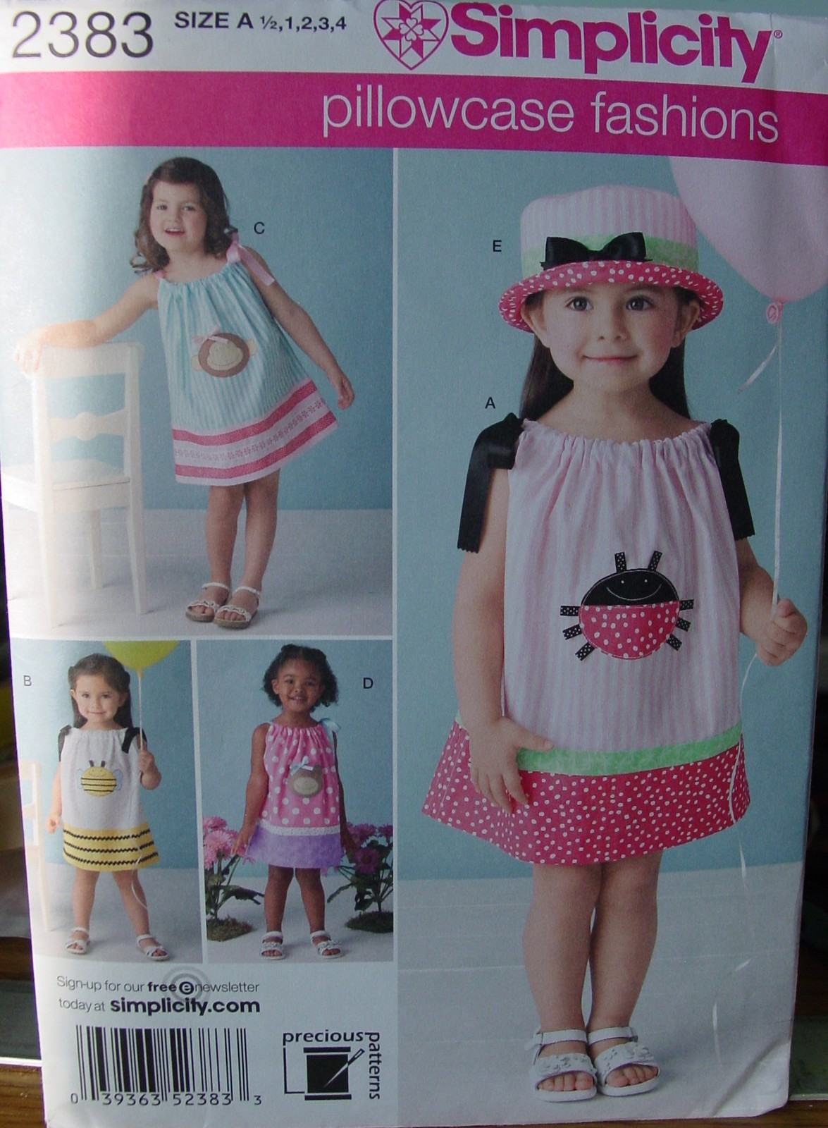 Primary image for Sewing Pattern 2383 size 1/2 - 4 Pillowcase Dress (USED) Complete