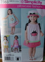 Sewing Pattern 2383 size 1/2 - 4 Pillowcase Dress (USED) Complete - $1.99