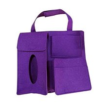 Multi-Pocket Travel Storage Bag Car Accessories Car Seat Organizer Purple