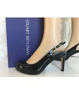 Stuart Weitzman Slinky Women's Slingback Heels Sandals 8 M Black Patent ... - $142.56