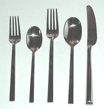 Lenox ANGLE 40 Piece Flatware Service for 8 Contemporary 18/10 Stainless New - $148.90