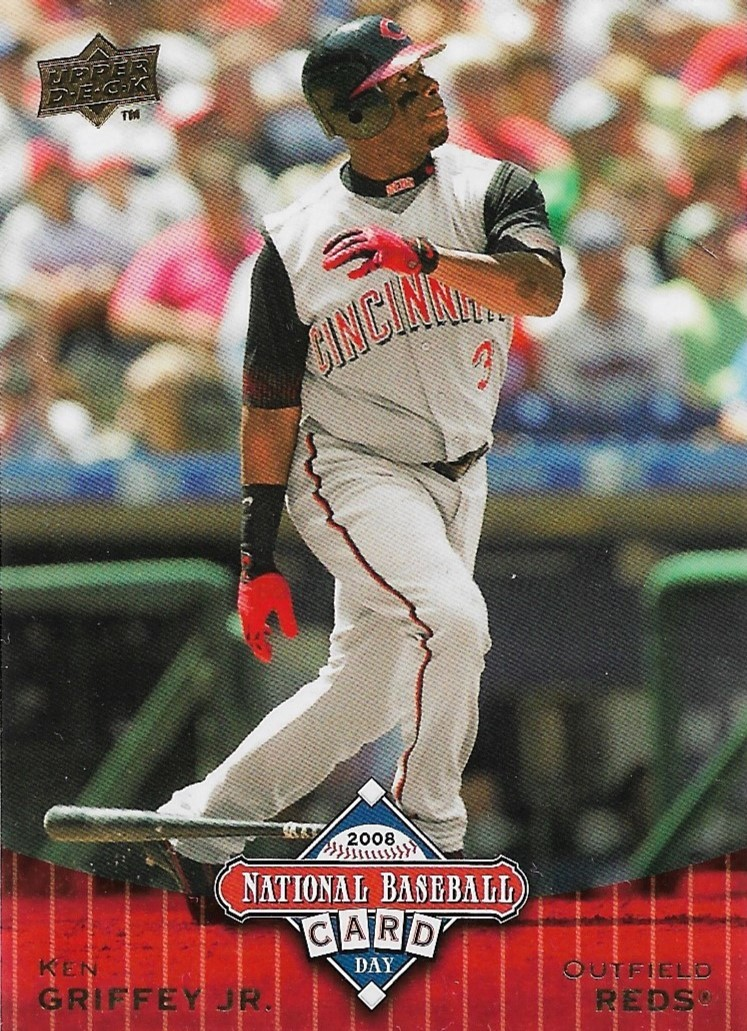 Primary image for Ken Griffey Jr. Upper Deck 2008 National Baseball Card Day #UD9 Reds