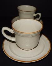 2 Baroque Summer Sun Hearthside Stoneware Tea Coffee Cup & Saucer Set Vi... - $29.69
