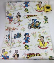 RARE 1979 DC Comics Super Jrs Wallpaper Wonder Woman Superman Batman - £81.37 GBP