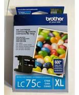 New Genuine Brother LC75XL Cyan Ink Cartridge MFC-J280W MFC-J6710DW 2023 - $11.83