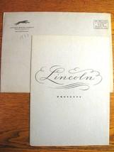 "1933 Lincoln V-12 Portfolio Brochure, 136"" Town Sedan, 145"" 7 Psgr Limou... - $59.40"