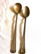 VTG silver plate lot of 2 Hotel Soda Ice tea Spoon Albert Pick Blackhawk - $15.59
