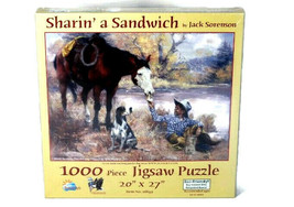 Sunsout Sharin a Sandwich 1000 Piece Jigsaw Puzzle Eco-Friendly by Jack ... - $24.74