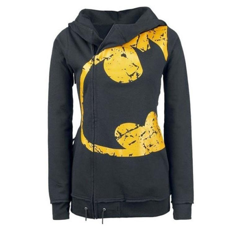 Women Autumn Winter Long Sleeve Yellow Personalized Printed Sweatshirt Draw Cord