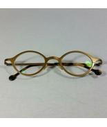 Vintage L.A. Eyeworks Coco 412 Ovate Metal Brass Color Unistyle Frame  - $211.42