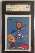 1989 Topps #415 Autographed Goose Gossage Chicago Cubs card SGC Certified - $29.02