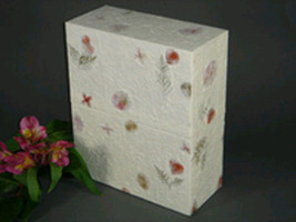 Biodegradable Eco-Friendly Adult Funeral Cremation Urn w. Floral Finish - $129.99