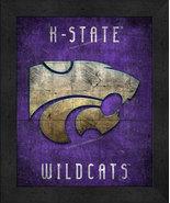 "Kansas State Wildcats ""Retro College Logo Map"" 13x16 Framed Print  - $39.95"