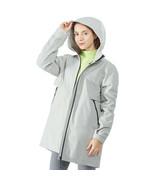 Hooded  Women's Wind & Waterproof Trench Rain Jacket-Gray-S - $93.93