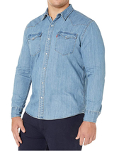 Levi's Men's Big & Tall Barstow Western Pearl Snap Casual Denim Dress Shirt image 5