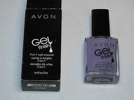 Avon Gel Finish 7-in-1 nail Enamel Lvndr 12 ml 0.4 fl oz nail polish mani pedi - $22.75