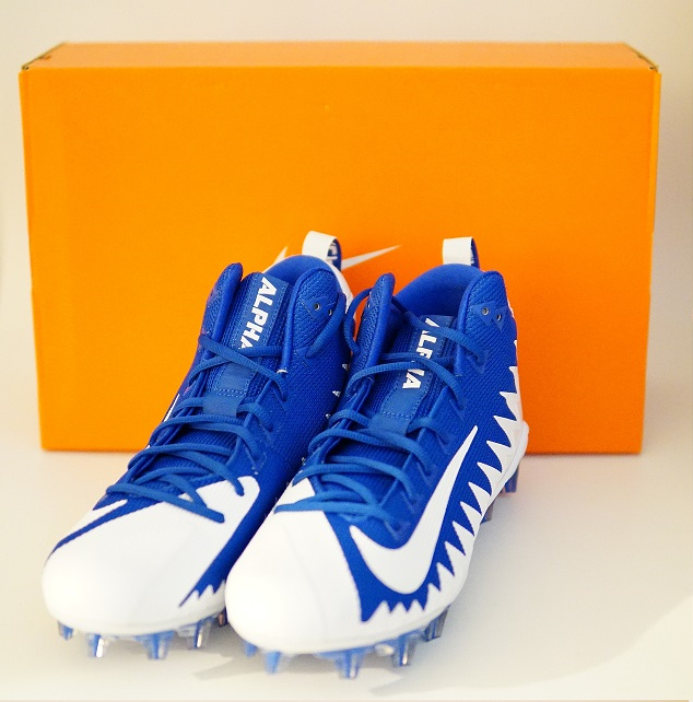 huge discount c9a76 479c3 S l1600. S l1600. Previous. Nike Alpha Menace Pro Mid Football Cleats Royal  Blue White 871451-411 ...