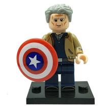 Captain America Steve Rogers (Old Man) Marvel Avengers Endgame Lego Minifigures - $1.99