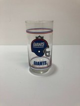 Vintage New York Giants NFL Mobil tall drinking glass  - $4.94