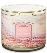 Bath & Body Works Aloha Kiwi Passionfruit Three Wick.14.5 Ounces Scented... - $22.49