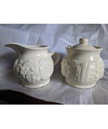 Ceramic Cherubs Sugar bowl with our and Creamer  - $12.00