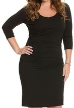 NWOT Lysse Marais Slimming Black Dress 3/4 Sleeves w Internal Slimmer Si... - $64.30