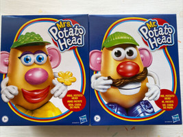 NEW Mr. Potato Head And Mrs. Potato Head by Hasbro Toy Gift Play Set Tog... - $54.44