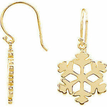 Petite Snowflake Earrings In 14K Yellow Gold - $574.19