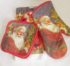 Santa Towel Oven Mit Potholder Set - $16.99