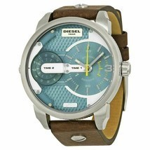 Diesel Men's DZ7321 Mini Daddy Watch With Brown Leather Band - $126.89 CAD