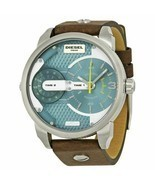 Diesel Men's DZ7321 Mini Daddy Watch With Brown Leather Band - £77.20 GBP