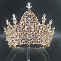 Hadiyana New Luxury Tiara Bridal Crown for Women 2019 Wedding Hair Acces... - £80.21 GBP