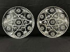 """Anchor Hocking Glass Co. 'Early American Prescut' Serving Plates 13"""" X2! - $54.45"""