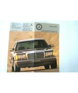 1986 mercedes  owners price card sales brochure used original 560sl 560s... - $19.79