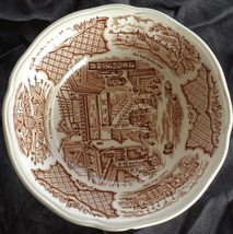 Vintage Alfred Meakin Coupe Cereal Bowl - Fair Winds - Brown - SMALL CHIP - $15.83