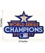 "Houston Astros 2017 World Series 3.5"" Championships Embroidered Iron On ... - $1.20"