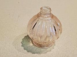 Vintage I.W. Rice Co. Pink Depression Glass Perfume Bottle Japan (No Cap) - $19.75