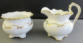 AYNSLEY BONE CHINA INDIVIDUAL PERSONAL CREAM & SUGAR SET FOR BREAKFAST TRAY - $24.75