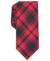 Bar III Men's Seabury Skinny Plaid Tie (Red) - $37.52