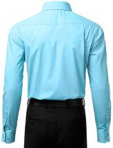 Berlioni Italy Men's Slim-Fit Premium French Convertible Cuff Solid Dress Shirt image 4