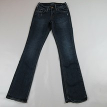"SILVER JEANS Suki Slim Boot Distressed Jeans Size 25 (Length 31"") - $13.50"