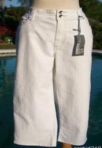 CHICO'S Chicos Platinum Size 2 L 12 Crop Pant Jean New Original Fit Stre... - $44.95
