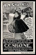 Fur AD 1907 Ladies Fur Lined Cloth Cape NYC Fur Merchant - $9.99