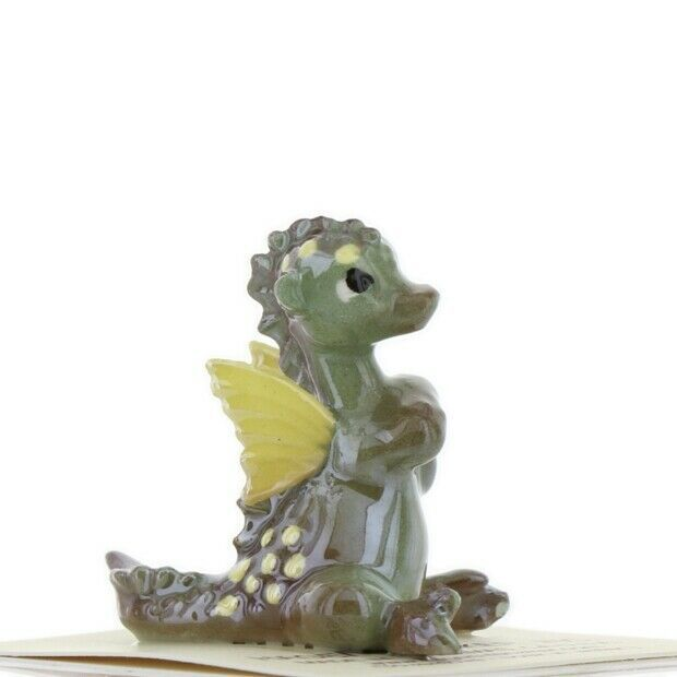 Hagen Renaker Miniature Dragon Baby Green Ceramic Figurine
