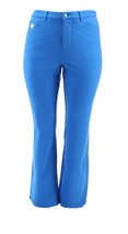 Quacker Factory DreamJeannes Tall Knit Denim Sapphire Blue 6 NEW A217496 - $35.62