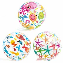 Inflatable Beach Round Ball Pool Party Swimming Sports Game Colorful Sum... - £7.28 GBP