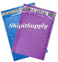 2-500 #0 6x10 Poly ( Blue & Purple ) Color Bubble Padded Mailers Fast Sh... - $3.49+