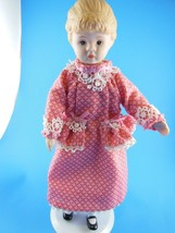 """8.5"""" Porcelain Doll with Pink Dress & Stand Maybe Avon Doll PRETTY - $9.64"""